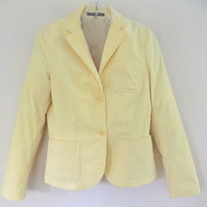 Theory corduroy blazer 10 Pale yellow Cotton bl US
